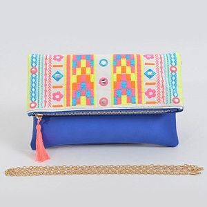 Handbags - Out To Flash You Clutch With Intricate Pattern